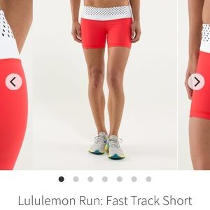 Lululemon Athletica Run Fast Track Shorts